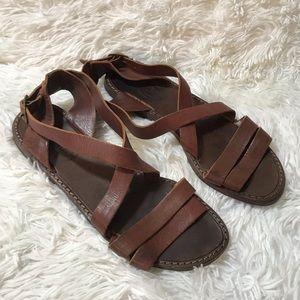 MIA Leather Strappy Sandals